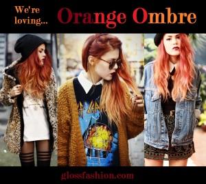orange ombre trend