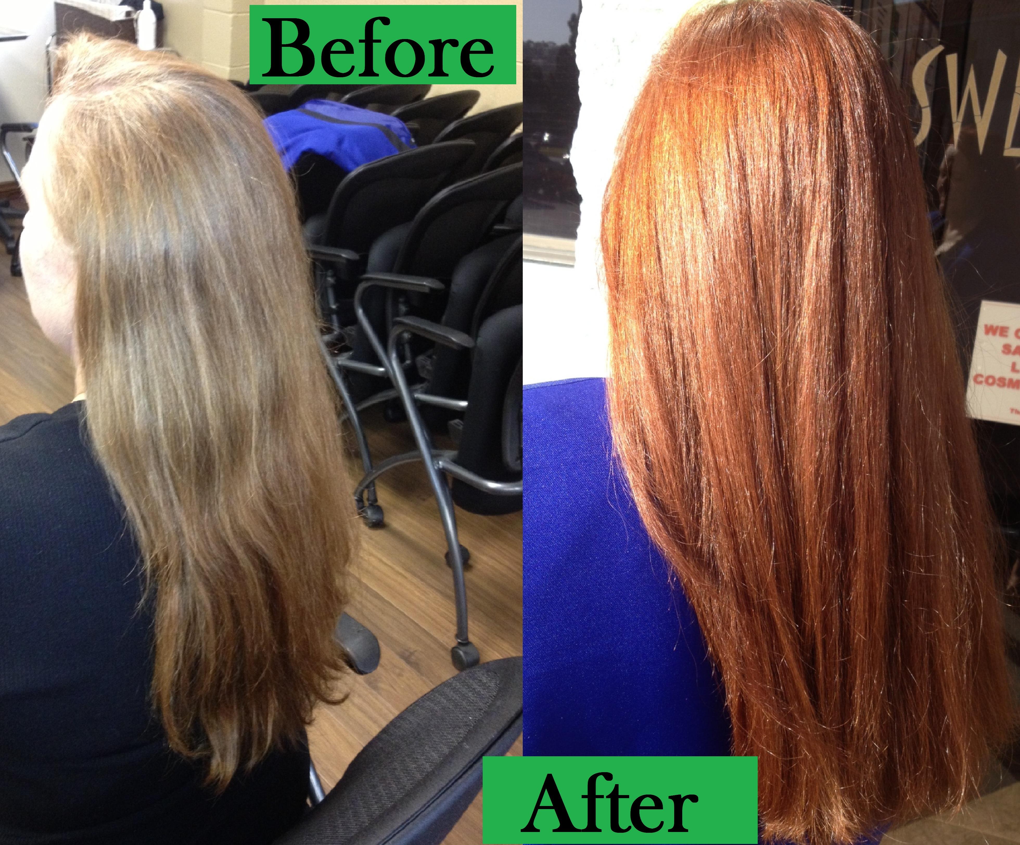 Ion medium copper blonde hair color 7 43 medium copper gold blonde